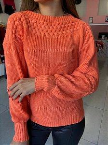 Blusa Tricô Julia Laranja