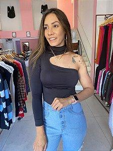 Body Canelado Juliana Preto