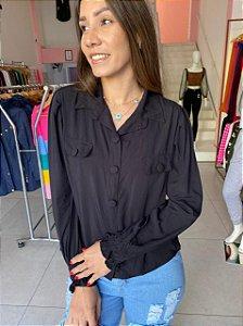 Camisa Botões Camila Preto