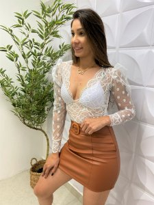 Body Tule Vanessa Branco