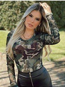 Body Tule Paula Militar