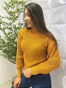 Blusa Tricô Julia Mostarda