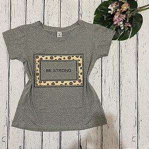 T-shirt Cinza Seja Forte
