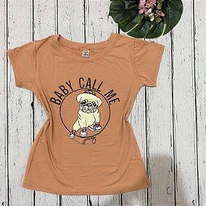 T-shirt Pug Rosê