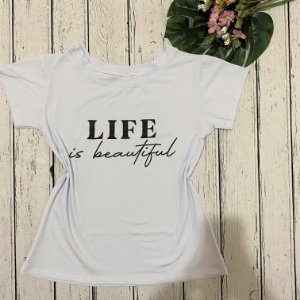 T-shirt Life Branca