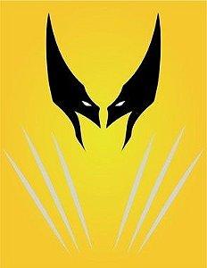 """Placa Decorativa - Coleção Heróis """"Wolverine"""""""