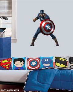 Adesivo de Parede para quarto infantil Capitão América