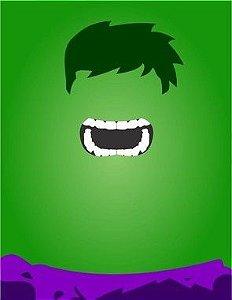 """Placa Decorativa, Coleção Heróis """"Hulk"""""""