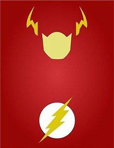"""Placa Decorativa, Coleção Heróis """"Flash"""""""