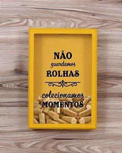 """Quadro Porta Rolhas """"Momentos"""""""