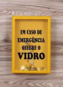 """Quadro Porta Moedas """"Emergência"""""""