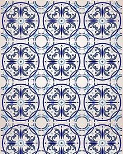Papel de Parede Azulejo Look Blue