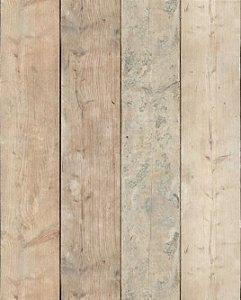 Papel de parede de madeira filetes na vertical claros