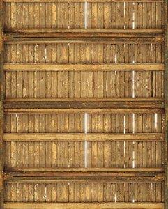 Papel de parede de madeira simulando parede em táboa