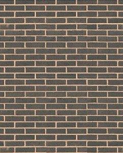 Papel de parede estilo Tijolo Cinza Escuro