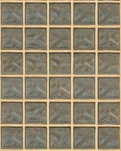 Papel de Parede estilo Tijolos de Vidro, com borda Bege