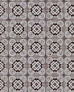 Papel de Parede Azulejo Ornamental