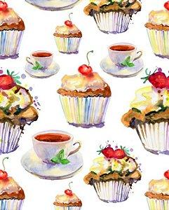 Papel de parede para Cozinha Cupcake