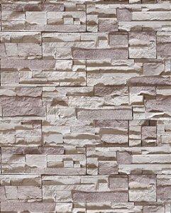 Papel de Parede Pedra Canjiquinha em tons Acizentados