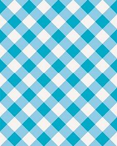 Papel de parede estilo Xadrez Azul