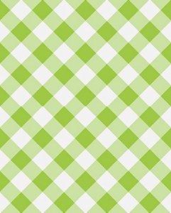 Papel de parede estilo Xadrez Verde