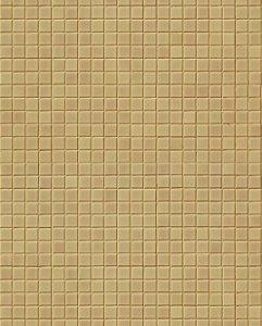 Papel de parede estilo Pastilhas em tons de Bege Escuro