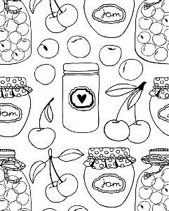 Papel de parede estilo Cozinha Preto e Branco