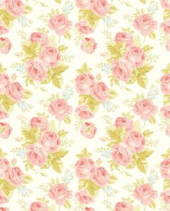 Papel de parede Floral com Rosas Delicadas