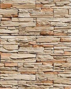 Papel de Parede Pedra Canjiquinha Filetes Retangulares