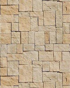 Papel de Parede Pedras Retangulares em Tons de Bege
