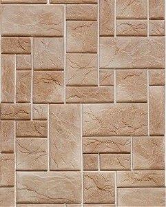 Papel de Parede Pedra Mosaico em tons de Marrom