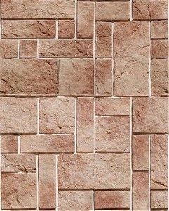 Papel de Parede Pedras Retangulares em tons de Marrom
