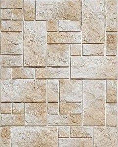 Papel de Parede Pedra Mosaico em Tons Claros