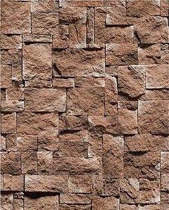 Papel de Parede Pedra Mosaico Rústica