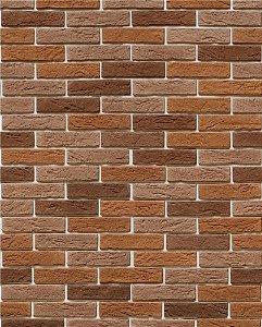 Papel de parede estilo Tijolo em tons Marrons