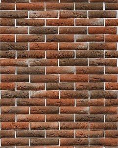 Papel de parede estilo tijolo com tons Escuros