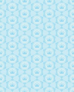 Papel de Parede estilo Baby Realeza Azul