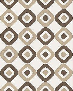 Papel de parede estilo Geométricos em tons de Marrom