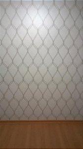 Papel de parede estilo Geométricos Bege e Marrom