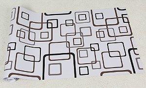 Papel de Parede Geométricos Preto, Marrom e Cinza