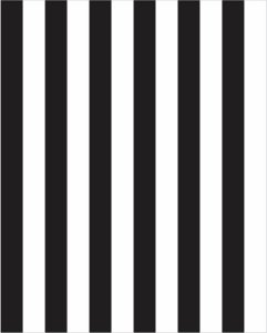 Papel de Parede Listrado  Preto e Branco - Faixas de 5cmts