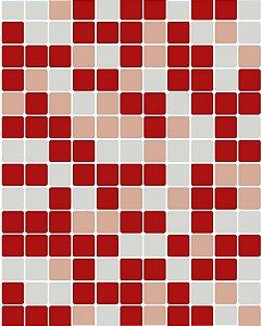 Papel de Parede Pastilhas Vermelho