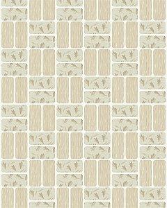 Papel de Parede Pastilhas - Tons Bege e Marrom