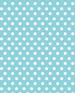 Papel de Parede Estilo Poá Branco e Azul