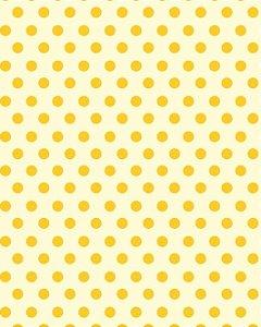 Papel de Parede Estilo Poá Amarelo