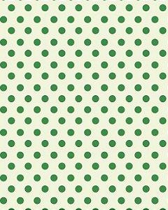 Papel de Parede Estilo Poá em tons de Verde