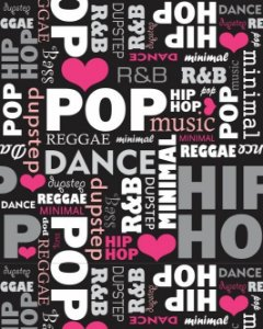 Papel de Parede Estilo Teen Pop Music