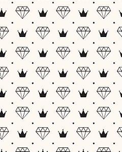 Papel de Parede Estilo Teen Diamantes