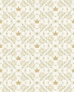 Papel de Parede Damask Realeza Ouro