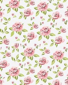 Papel de parede Floral Rosas em Abstrato